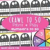 Spider Math Center - Crawl to 50