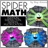 Spider Math Craft:  Addition, Subtraction, Multiplication,