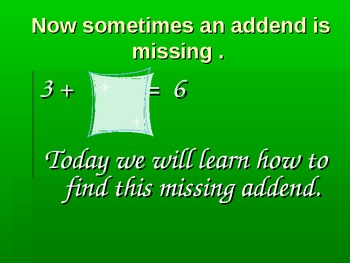 Spider Math : Missing Addends