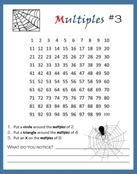 Spider Math:  Multiples