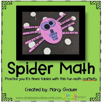 Spider Math Multiplication craftivity from Simply sprout