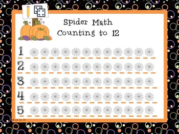 Spider Math - PreK, Kindergarten, First