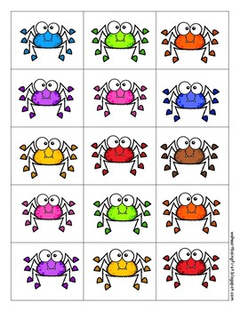 Spider Math - Subtraction Task Cards, Just Add Spiders