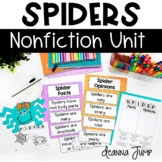 Spiders: Nonfiction Unit with Literacy, Math and Science