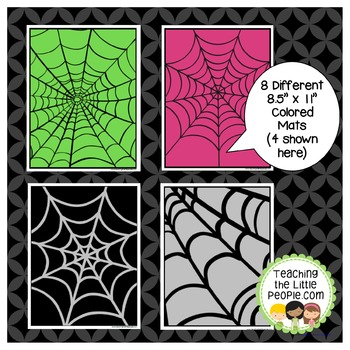 Spider Math and Play Dough Mats