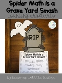 Spider Math is a Grave Yard Smash! Halloween Counting Craftivity