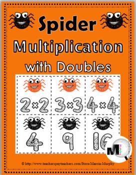 Multiplication Facts - Spider Math  - Fall Activity - Autu