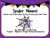 Spider Nouns!  Common and Proper Noun Scoot Game and Sorti