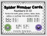 Spider Number Cards 0-10
