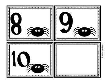 Spider Number Cards 0-20