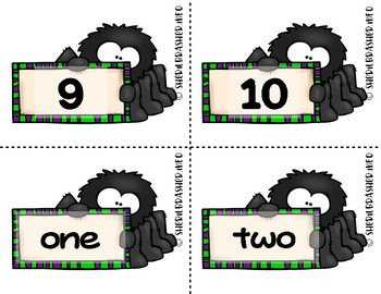 Spider Number Fluency Cards | English | 1-10
