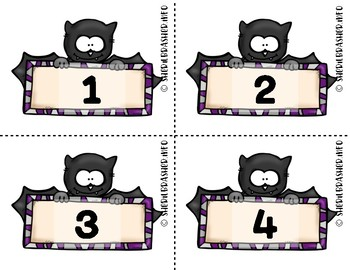 Bat Number Fluency Cards | English | 1-10