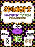 Spider Number Match Math Center