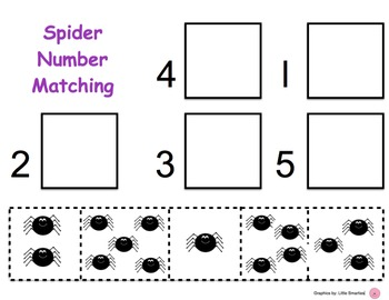 Spider Number Matching Mats