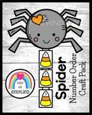 Spider Number Order Craft (Fall, Halloween Math Activity for Kindergarten)