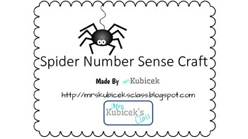 Spider Number Sense Craft