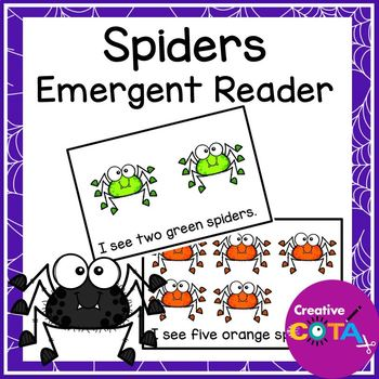 Spider Numbers and Colors Emergent Reader