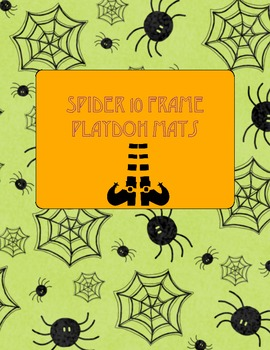 Spider Playdoh Ten Frame Mats for Numbers 1-20