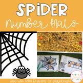Spider Playdough Number Mats