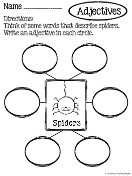 Spider Poem: Working with Verbs & Adjectives FREEBIE