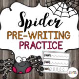 Spider Pre-Writing Practice (Halloween)