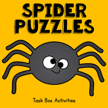 Spider Puzzles Task Box Activities -- 7 activities included