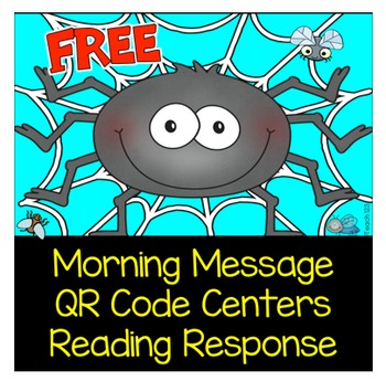 Spider QR Code Center Reading Response Morning Message
