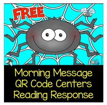 Spider QR Code Center Reading Response Morning Message