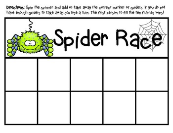 Spider Race: Ten Frame Game