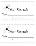 Spider Research Booklet for Louisiana Guidebook Spiders Unit