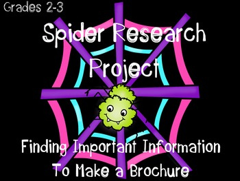 Spider Research Project {Make a Brochure}