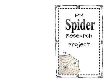 Spider Research Project {Primary Grades} Freebie!