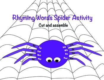 Spider Rhyming Activity