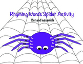 Spider Rhyming Activity