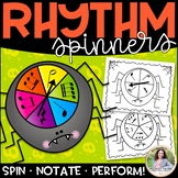Spider Rhythm Spinners for Elementary Music Students {Colo