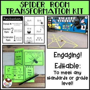 Spider Room Transformation Editable