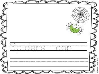 Spider Schema Writing Activity