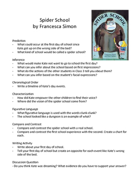 Spider School by Francesca Simon - Teaching Literary Skills with Picture Books