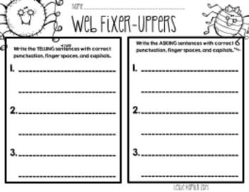 Spider Sentences: Web Fixer Uppers