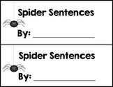 Spider Sentences (adjective, noun, verb)