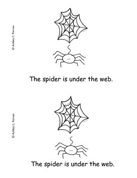 Spider Emergent Readers--shapes & numbers