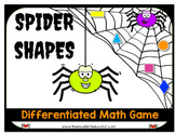 Spider Shapes Differentiated Math Game Pack