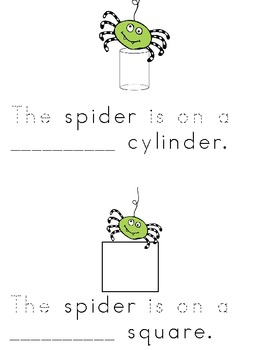 Spider Shapes and Color Word Reader