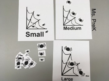 Preschool Spider Size Sort Freebie
