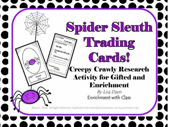 Spider Sleuth Trading Cards: Research Activity for Gifted and Enrichment