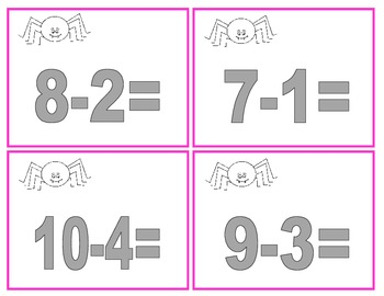 Spider Smack Addition and Subtraction