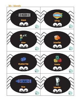 Spider Smash Articulation Game: Consonant Blends