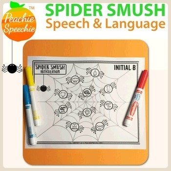 Spider Smush Speech and Language {No Prep Bundle}