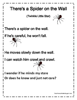 Spider Songs for Read Alouds