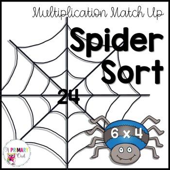Spider Sort: Multiplication Match Up